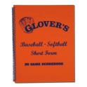 Glover's Short Form Baseball / Sofball Scorebook  (30 Games)