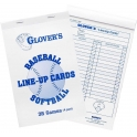 Glover's Baseball / Softball Line-Up Cards